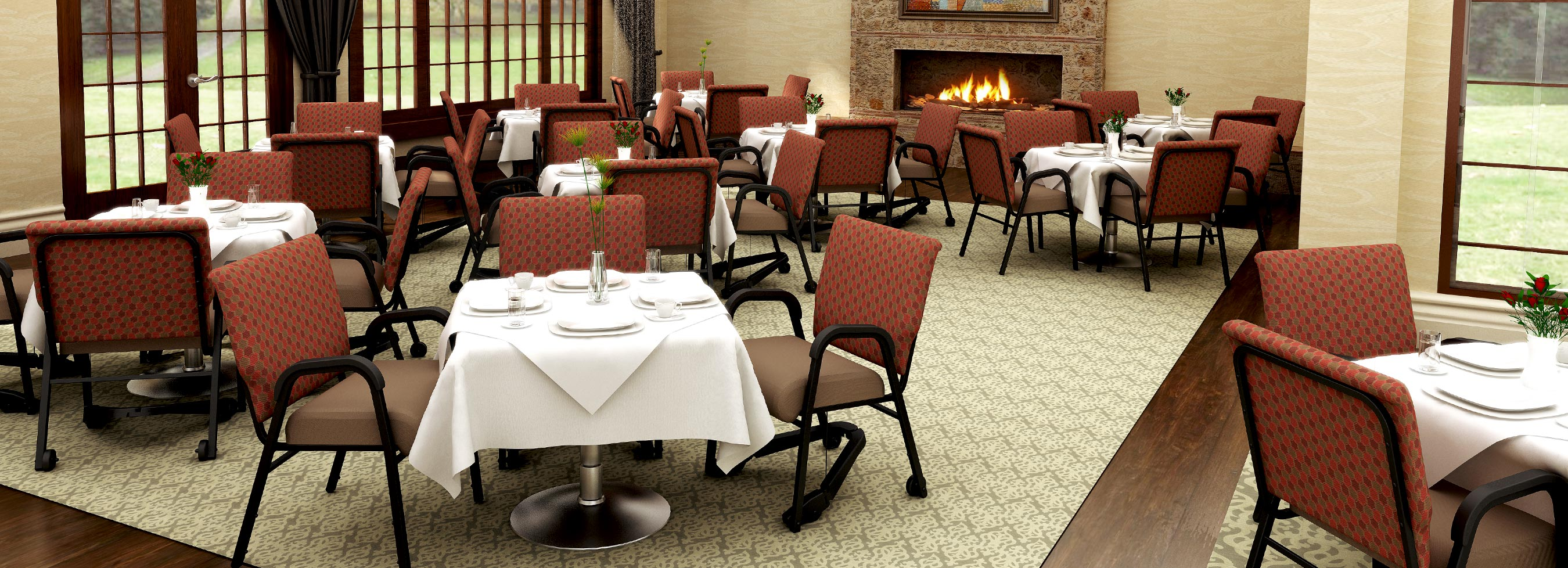 4 products that illustrate innovation at comfortek for Senior living dining room